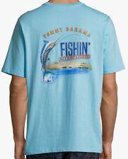471178a0d 3xl Tommy Bahama Bar Code Blue Cotton Crewneck Short Sleeve T-shirt Mens