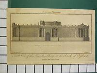 1797 Datato Antico London Stampa ~ Banca Di Inghilterra Nuovo Edifici J.Sewell