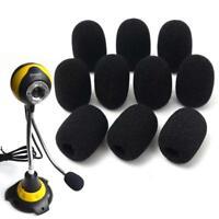 10PCS Microphone Headset Grill Windscreen Sponge Foam Pad Black Mic Cover Hot MT