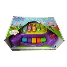 Peppa Pig Toy My First Piano 2 en 1 Piano Musical Amusant Enfant Instrument Jouet Neuf