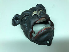 """Collectible Cast Iron Bulldog Wall Mounting Bottle Opener 4"""" x 3"""""""