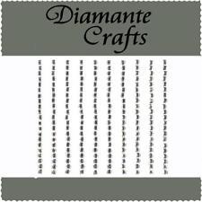 210 x 3mm Clear Diamante Squares Self Adhesive Rhinestone Body Art Vajazzle Gems