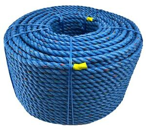 220 METRE COIL POLY STEEL FISHING POT ROPE 4x4 ,tree surgery