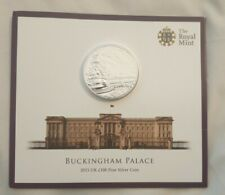 More details for 2015 buckingham palace fine silver 100 pound coin bunc bu uk