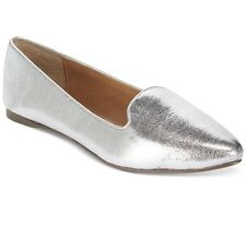 NEW! Report Roth Smoking Flats Silver Crackle Size 9M