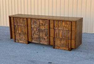 "Mid century Modern Lane ""Pueblo"" Brutalist  Dresser in the style of Paul Evens"