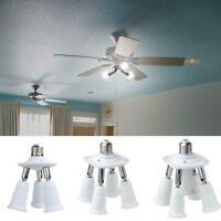 E27 Adjustable Bulb Socket Adapter Splitter Lamp Base Holder Light Converte F7E5