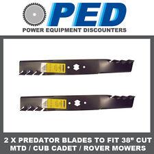 "2 x Predator blades to fit 38"" cut MTD ride on mower"