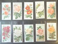 1912 Wills ROSES flowers garden plants Tobacco cards complete VG.  50 card set
