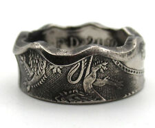 Coin ring from a British Fifty Pence 50p coin.  Royal Arms Good luck coin ring