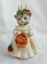 """New ListingRare Vintage 1995 Schmid, Kitty Cucumber Collectible """"St Lucia"""" Christmas Kitty"""