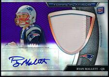 2011 Topps Platinum Ryan Mallett Rookie 3 Color Jumbo Patch Auto 7/25 Patriots