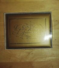 Golden Anniversary Guest & Gift Book. Gold hardcover. Weddings by Amscan. 50th