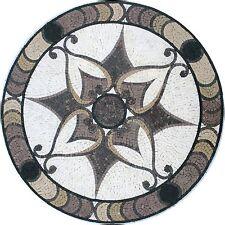 "36"" Handmade Decorative Medallion wall floor Marble Mosaic Art Stone Tile Decor."