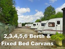 2,3,4,5,6 Berth & Fixed Bed & Twin Axle Caravans From £2,999!