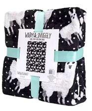 "New Warm and Snuggly Lama Plush Velvet Fleece Throw Blanket 50""X 60"" Limited!"