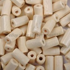 50pcs TUBE SHAPES Ivory & Charms WOOD Loose BEADS & 12X6MM