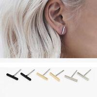 2Pair Punk Earrings Simple T Bar Earrings Women Ear Stud Earrings Chic Jewelry