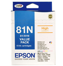 Epson 81N 6-ink Value Pack for R290,T50,TX810, High Yield Genuine