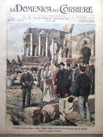 La Domenica del Corriere 23 Aprile 1905 Merry del Val Taormina Corfù De Sonnaz