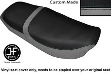 GREY & BLACK VINYL CUSTOM FOR HONDA CB 650 SC NIGHTHAWK 82-85 DUAL SEAT COVER