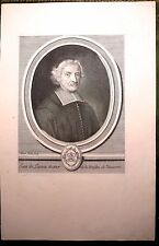 Burin de LUBIN,  Portrait de Jean de Launoi, docteur