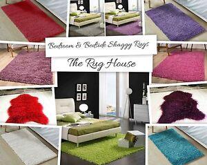 Warm Fluffy Bedroom Shaggy Rugs Feet Friendly Bedside Rugs Faux Fur Sheepskins