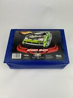 Hot Wheels 24 Car Carry Case By TARA Green Car On Lid 2004 Made in USA Blue