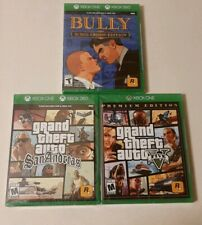 Bully: Scholarship Edition,  GTA: San Andreas & V (Xbox 360/One) BRAND NEW!!!