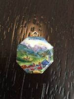 Vintage Sterling Or 800 Enameled Silver Charm  German Rare