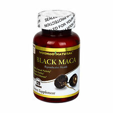 Peru Black Maca 1500 mg 120 Caps, Energizing Herb Rich in Saponins FREE SHIP