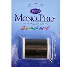 Superior Threads Monopoly Polyester Invisible Thread No.40. 2200yd Reel - SMOKE