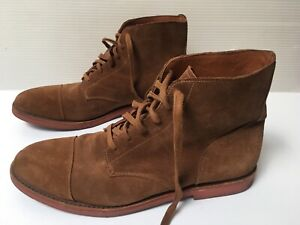 Walk Over Chukka Boots Light Brown Suede Lace Up Vibram Sole Mens Size US 13M