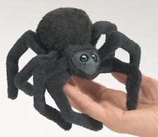 New Black Spider Finger Puppet Gift Stuffed Toy Folkmanis Halloween Decoration