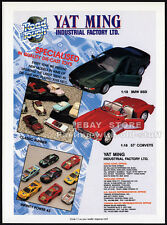 YAT MING__Original 1993 Toy Trade print AD promo/ advert__'57 Corvette__BMW 850i