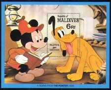 Maldivas 1982 Disney/Plutón/Mickey/Caricaturas/Animación/películas/perros 1v m/s (d00147)