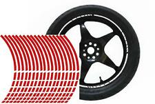 NEW wheel rim tape striping stripes stickers RED..(36 pieces/9 per wheel)