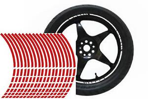 NEW wheel rim tape striping stripes stickers RED