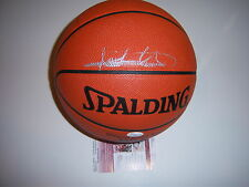 ISIAH THOMAS,DENNIS RODMAN DETROIT PISTONS CHAMPS JSACOA SIGNED GAME BASKETBALL