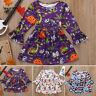 Toddler Baby Girl Kids Halloween Cartoon Princess Flare Long Sleeve Dress Outfit