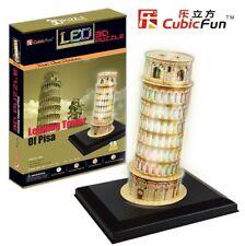 Puzzle Cubic Fun 15 Teile - Puzzle 3D mit LED - Schiefer Turm von... (41331)