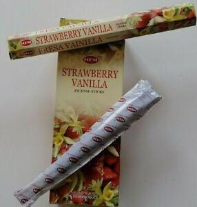 20 HEM Räucherstäbchen Erdbeer Vanille Strawberry Vanilla Incense Sticks Duft