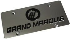 Stainless Steel Mercury Grand Marquis Black Logo License Plate Frame 3D Novelty