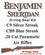 Benjamin Sheridan CB9 Blue Streak C9 Silver Streak .20cal  O-ring Seal Kit
