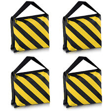 Neewer 90081000 Heavy Duty Sand Bag for Light Stands Boom Arms Tripods, Black/Yellow - Set of 4