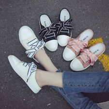 Women Canvas Skate Flats Shoes Sports Outdoor Girl Lace Up Casual Board Sneakers