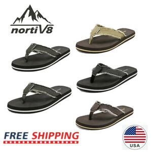 NORTIV 8 Mens Flip Flops Beach Sandals Lightweight EVA Sole Comfort Thongs