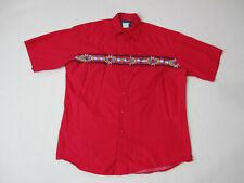 VINTAGE Wrangler Pearl Snap Shirt Adult Large Red Blue Aztec Western Cowboy Mens