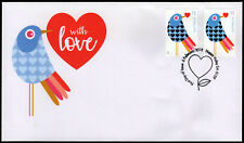 2018 With Love Embellished Foil Pair Birds FDC First Day Covers Stamps Australia