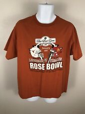 Rosebowl Orange Texas USC 2006 Rosebowl Football Shirt Sz L